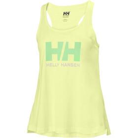 Helly Hansen HH Logo Singlet Mujer, sunny lime